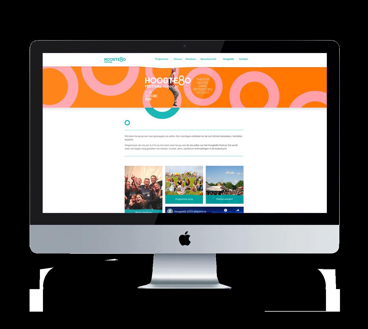 Hoogte80 festival-website